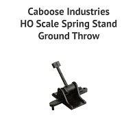 HO Scale Spring Stand Ground Throw