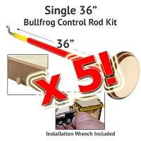 5 Pack Control Rod Kit for BullFrogs-36
