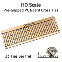 CopperHead HO Scale, PC Board Pre-Gapped Crossties - 2mm