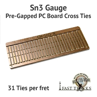 CopperHead Sn3 PC Board Pre-Gapped Crossties - 2mm