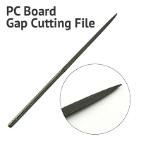 PC Board Gap Cutting Triangle File