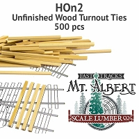 HOn2 Unfinished Wood Turnout Ties - 500 pcs