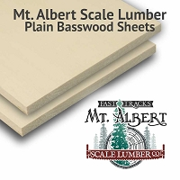 Plain Basswood Sheet 1/4 thick, 4x12 inches long (2pcs)