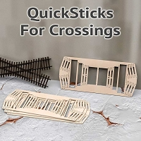 QuickSticks Laser Cut Ties For HO Scale, 14° Crossings - Drilled