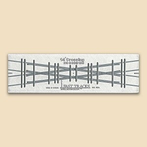 HO Scale, 14° Crossing Assembly Fixture for Micro Engineering 100 Rail