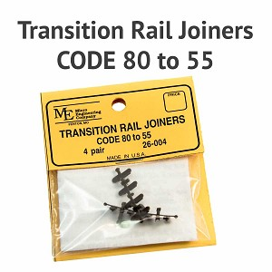 Transition Rail Joiners - Code 80 to 55