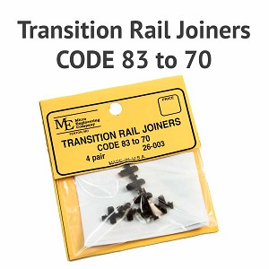 Transition Rail Joiners - Code 83 to 70