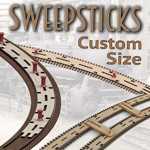 Z Scale, Custom Radius SweepSticks