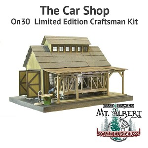 The Car Shop - On30  Limited Edition Craftsman Kit