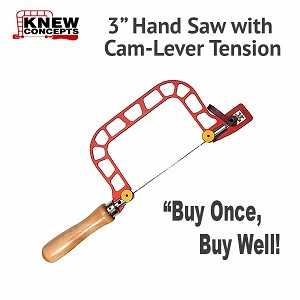 "Knew Concepts 3"" Jewelers Saw with Cam-Lever Tension"
