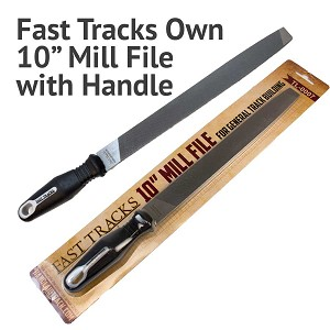 "Fast Tracks Own 10"" Mill File for Track Building - With Handle"