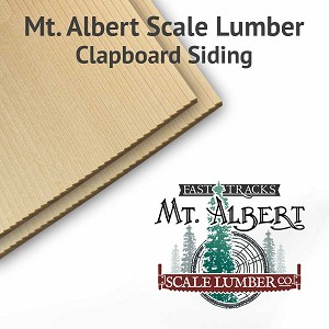 "4.5"" Boards O Scale Clapboard Siding Sheets, 4x24 inches long BULK"
