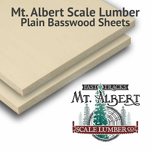 Plain Basswood Sheet 1/4 thick, 4x12 inches long BULK