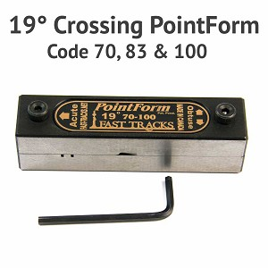 19° Crossing PointForm for Code 70, 83 & 100 Rail