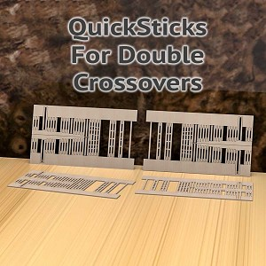 QuickSticks Laser Cut Ties For HO, #8-2.5C Double Crossovers - Drilled