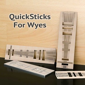QuickSticks Laser Cut Ties For HO, #8 Wyes - Drilled