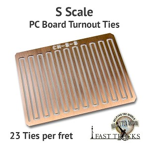 CopperHead S Scale PC Board Turnout Ties - 1/16""