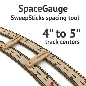 SpaceGage SweepSticks Spacing Gage for 4 to 5 Inch Track Centers