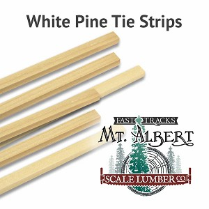 Tie Strips, HO 8x8 16 Inches long. 12pcs.