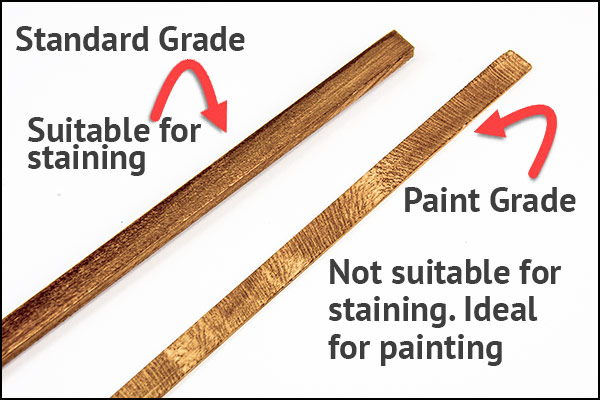 Paint Grade Stripwood