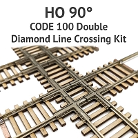Diamond Line HO Scale, 90° Code 100 Double Crossing kit