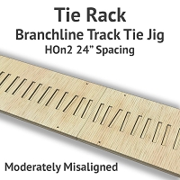 Tie Rack - Tie Jig for HOn2 Branchline - Moderately Misaligned