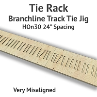Tie Rack - Tie Jig for HOn30 Branchline - Very Misaligned
