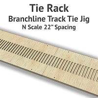 Tie Rack - Tie Jig for N Scale Branchline Track