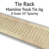 Tie Rack - Tie Jig for O Scale Mainline Track