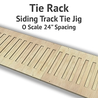 Tie Rack - Tie Jig for O Scale Siding Track