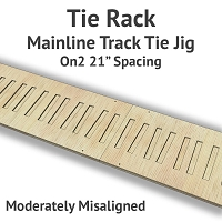 Tie Rack - Tie Jig for On2 Mainline - Moderately Misaligned
