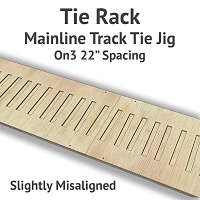 Tie Rack - Tie Jig for On3 Mainline - Slightly Misaligned