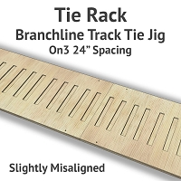 Tie Rack - Tie Jig for On3 Branchline - Slightly Misaligned