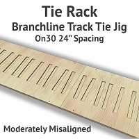 Tie Rack - Tie Jig for On30 Branchline - Moderately Misaligned
