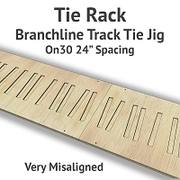 Tie Rack - Tie Jig for On30 Branchline - Very Misaligned