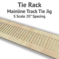 Tie Rack - Tie Jig for S Scale Mainline Track