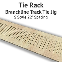 Tie Rack - Tie Jig for S Scale Branchline Track