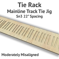 Tie Rack - Tie Jig for Sn3 Mainline - Moderately Misaligned