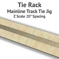 Tie Rack - Tie Jig for Z Scale Mainline Track
