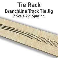 Tie Rack - Tie Jig for Z Scale Branchline Track