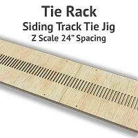 Tie Rack - Tie Jig for Z Scale Siding Track