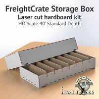 Freight Crate Rolling Stock Transport Box for HO scale 40' Equipment