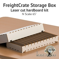 Freight Crate Rolling Stock Transport Box for N scale 65' Equipment