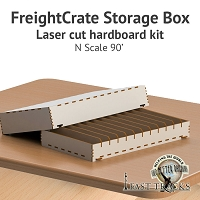 Freight Crate Rolling Stock Transport Box for N scale 90' Equipment