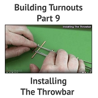 Building A Turnout, Step 9 - Installing The Throwbar