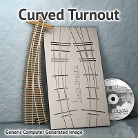 N Scale, #10, 22R/18R Curved Turnout Fixture for Micro Eng 55 Rail