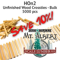 HOn2 Unfinished Wood Crossties - 5000 pcs