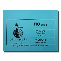 HO Scale 16' White Pine Switch Tie 500 pcs