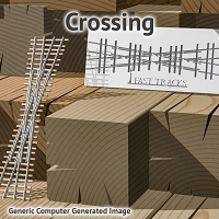 On30 60° Crossing Assembly Fixture for Micro Engineering 70 Rail