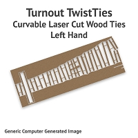 Curvable Laser Cut Wood Ties For Sn3 #4 Turnouts - Left